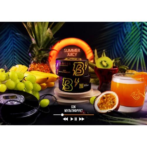 Табак Banger Summer Juicy (Сок мультифрукт) - 100 грамм