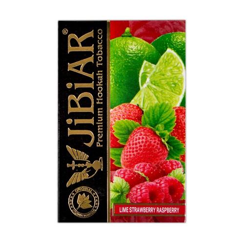 Табак Jibiar Lime Strawberry Raspberry (Лайм Клубника Малина) - 50 грамм