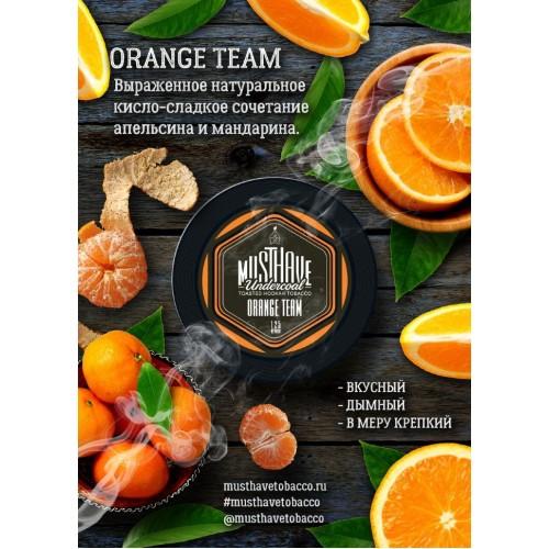 Табак Must Have Orange Team (Оранжевая Команда) - 125 грамм