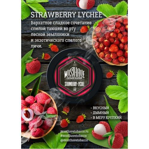 Табак Must Have Strawberry Lychee (Клубника Личи) - 125 грамм